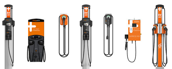 Charging stations produced by LilyPad EV