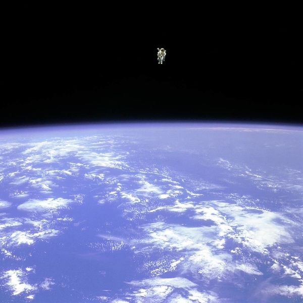 bruce mccandless shot of the Earth