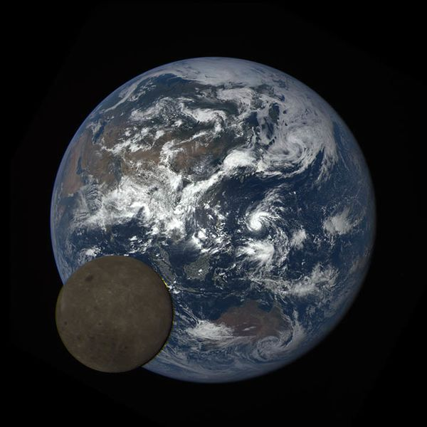 moon crossing the Earth