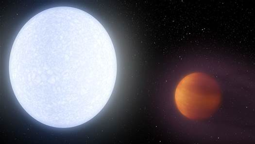 This distant planet is hotter than many stars