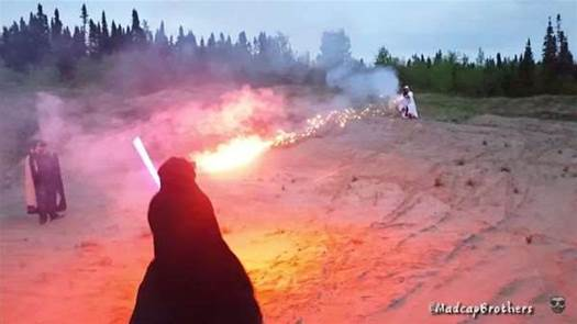 Watch A Lightsaber Deflect A Fireball